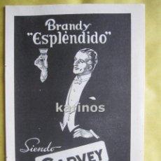 Catálogos publicitarios: 1957 PUBLICIDAD BRANDY ESPLENDIDO GARVEY -NA-. Lote 54340900