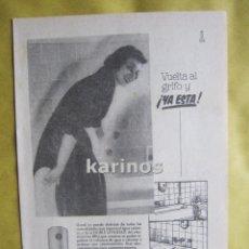 Catálogos publicitarios: 1957 PUBLICIDAD ELECTRO-TERMO BRU -NA-. Lote 54354453