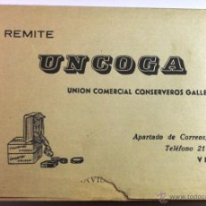 Catálogos publicitarios: ANTIGUO BOLETIN DE UNCOGA -UNION COMERCIAL DE CONSERVEROS GALLEGOS-. Lote 54467735