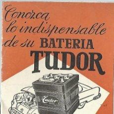 Catálogos publicitarios: GARANTIA BATERIAS TUDOR. Lote 54594581