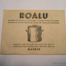 Catálogos publicitarios: CATÁLOGO ROALU. COCINA. PASTELERÍA.CHARCUTERÍA.. Lote 119173355