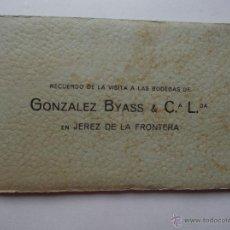 Catálogos publicitarios: RECUERDO DE LA BODEGA GONZALEZ BYASS & C.ª L.DA. JEREZ DE LA FRONTERA.. Lote 54694989