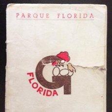 Catálogos publicitarios: COCKTAILS. CÓCTELES. PARQUE FLORIDA. MADRID. AÑOS 40-50. LIBRITO CON CÓCTELES Y CANCIONES. . Lote 54705953