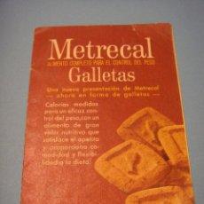 Catálogos publicitarios: METRECAL. ANTIGUO LIBRETO ACORDEÓN CON INSTRUCCIONES. ALIMENTO COMPLETO. BARCELONA. MEAD & JOHNSON . Lote 54731174