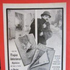 Catálogos publicitarios - 1918 Hoja Publicidad Trajes interiores Higiénicos Dr. Rasurel. Perfumeria Floralia (72) - 54929301