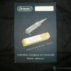 Catálogos publicitarios: PROPAGANDA MEDICAMENTO FARMAES. MERCK. AÑOS 50. Lote 54952951