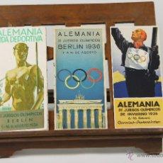 Catálogos publicitarios: 7281 - LOTE DE 3 CATÁLOGOS. JUEGOS OLIMPICOS ALEMANIA. VV. AA(VER DESCRIP). 1936.. Lote 54971937