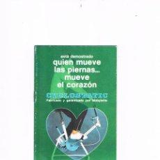 Catálogos publicitarios: FOLLETO PUBLICITARIO CYCLOSTATIC MOBYLETTE INSTRUCCIONES. Lote 54989191