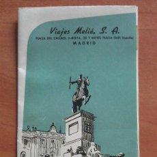 Catálogos publicitarios: DECADA 60 MADRID Y CERCANÍAS - VIAJES MELIÁ. Lote 55088292