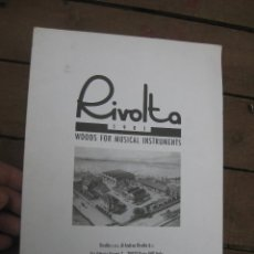 Catálogos publicitarios: CATALOGO PUBLICITARIO RIVOLTA 1901 WOODS FOR MUSICAL INSTRUMENTS. Lote 55226927