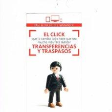Catálogos publicitarios: FOLLETO PUBLICIDAD BANCO SANTANDER CLICK PLAYMOBIL RARO CURIOSO. Lote 55711308