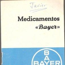 Catálogos publicitarios: PUBLICIDAD, LABORATORIOS BAYER, MEDICAMENTOS, TARIFA DE PRECIOS 1967, . Lote 56203995