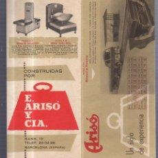 Catálogos publicitarios: CATALOGO PUBLICITARIO. BASCULAS ARISO. UN SIGLO DE EXPERIENCIA. ILUSTRADO. BARCELONA. 10 X 22CM. Lote 56224981