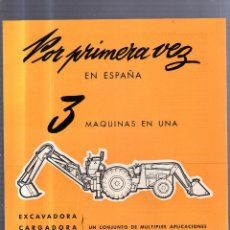 Catálogos publicitarios: CATALOGO PUBLICITARIO. EXCAVADORA, CARGADORA Y TRACTOR. MASSEY-FERGUSON. MAQUINARIA AGRICOLA. Lote 56227121