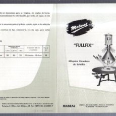 Catálogos publicitarios: CATALOGO PUBLICITARIO. MABEAL. FULLFIX. MAQUINA LLENADORA DE BOTELLAS. MADRID. 30 X 20CM. Lote 56227211