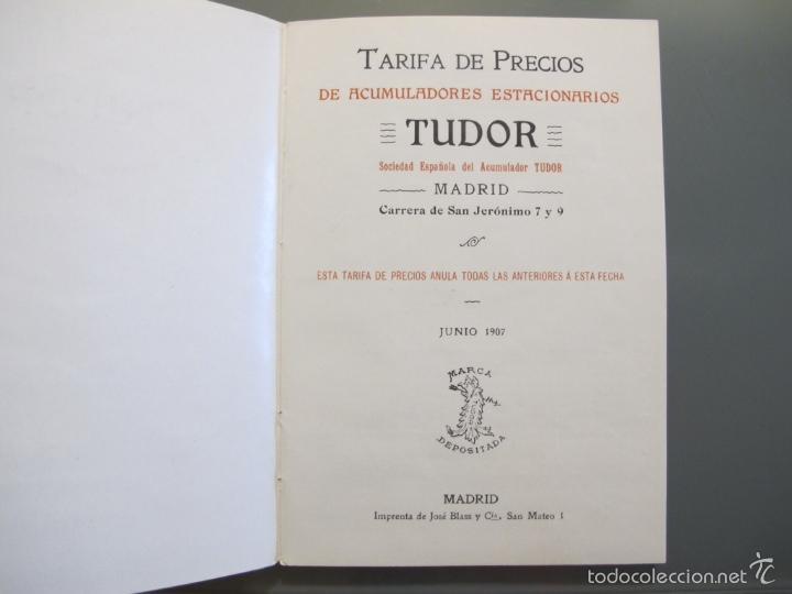 Catálogos publicitarios: Catálogo TUDOR 1907 - Foto 2 - 56260108