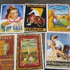 Catálogos publicitarios: 6 MAGNÍFICAS POSTALES DE PUBLICIDAD. Lote 56371608