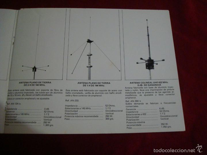 Catálogos publicitarios: catalogo publicidad antenas de emision 1977 - Foto 5 - 56556656