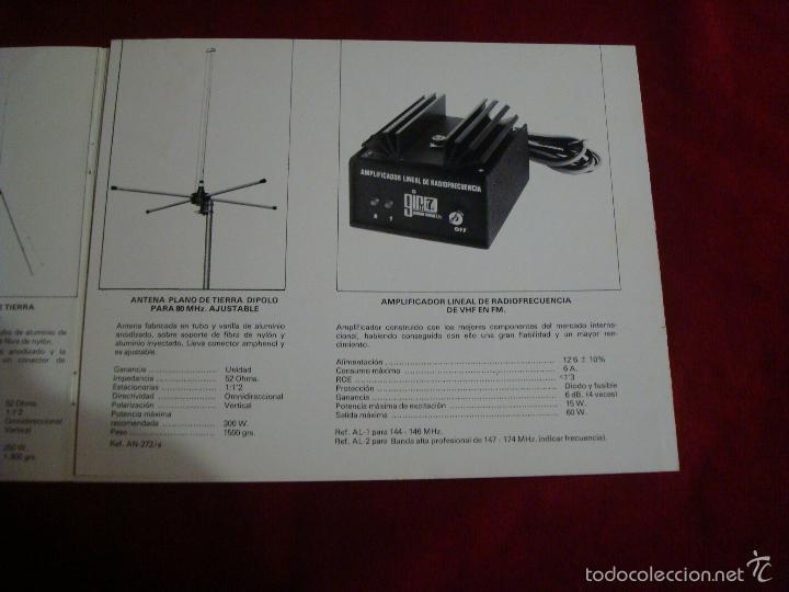 Catálogos publicitarios: catalogo publicidad antenas de emision 1977 - Foto 6 - 56556656