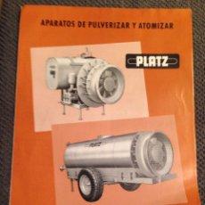 Catálogos publicitarios: FOLLETO PUBLICITARIO. Lote 56576873