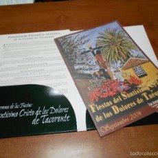 Catálogos publicitários: PROGRAMA DE FIESTAS TACORONTE 2004 (TENERIFE) Y 10 LÁMINAS DEL PATRIMONIO HISTÓRICO-ARTÍSTICO. Lote 56659403