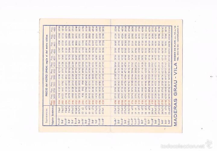 Catálogos publicitarios: FOLLETO PUBLICIDAD MADERAS GRAU VILA 1963 CARPINTERÍA ANTIGUO TABLA DE PRECIOS MADERA CARPINTERO - Foto 2 - 56878897