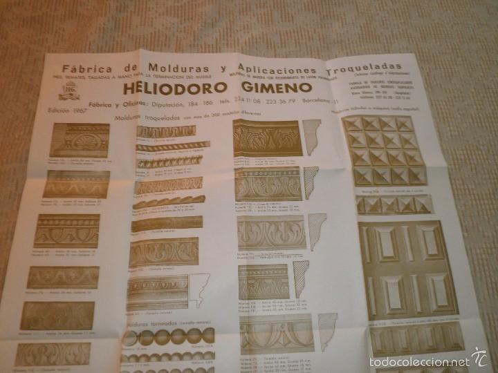 Catálogos publicitarios: FOLLETO PLANO FABRICA MOLDURAS MADERA HELIODORO GIMENO TAMAÑO POSTER CARPINTERIA 1967 - Foto 2 - 56879251