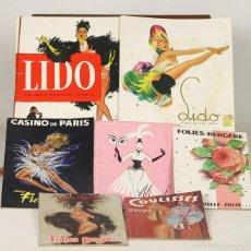 Catálogos publicitarios: 7546 - LOTE DE 7 PROGRAMAS DE CABARET. VV. AA.(VER DESCRIP). EDIT. VARIAS. S/F.. Lote 57054034