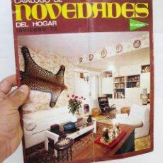 Catálogos publicitarios: FANTASTICO CATALOGO PUBLICITARIO DISEÑO MUEBLES HOGAR EL CORTE INGLES HOGAR AÑOS 70 . Lote 57124247