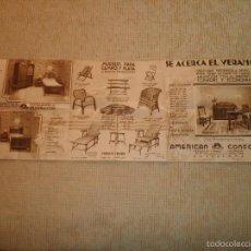 Catálogos publicitarios: CATALOGO MUEBLES AMERICAN CONFORT TAPICERIA MUEBLES DECORACIÓN ANTIGUO. Lote 57135107