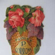 Catálogos publicitarios: DÍPTICO TROQUELADO PUBLICIDAD FÁBRICA DE FLORES ARTIFICIALES D.CORRONS BARCELONA AÑOS 30. Lote 42249689