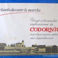 Catálogos publicitarios: CODORNIU. CHARLANDO DURANTE LA MARCHA. 1962. Lote 57216714