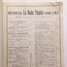 Catálogos publicitarios: LA RADIO POPULAR. MADRID. LISTA DE PRECIOS. AÑOS 30. Lote 57279951