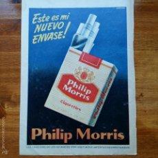 Catálogos publicitarios: RECORTE ANTIGUO PUBLICIDAD, AÑOS 50. TABACO PHILIP MORRIS. Lote 57305337