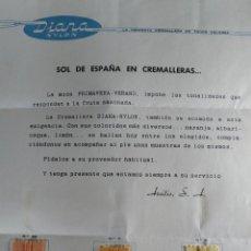 Catálogos publicitarios: DIANAN NYLON CREMALLERA SOL DE ESPAÑA EN CREMALLARA AREITIO S.A. VITORIA. Lote 57449244