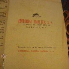 Catálogos publicitarios: EDITORIAL AMALTEA SA BARCELONA PRECIOS Y CONDICIONES DE VENTA EN VIGOR 1960 DOS EJEMPLARES. Lote 57539213
