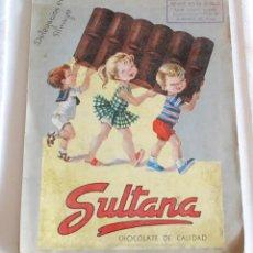 Catálogos publicitarios: CATALOGO PRODUCTOS CHOCOLATE SULTANA AÑOS 50.. Lote 57549637