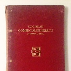 Catálogos publicitarios: SOCIEDAD COMERCIAL DE HIERROS. C. 1925. (MÉNDEZ ALVARO, MADRID) MANUAL, CON FOTOS DE EDIFICIOS. PIEL. Lote 57551273