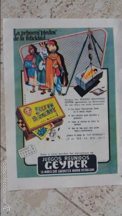 Hoja De Publicidad Juegos Reunidos Geyper Comprar Catalogos