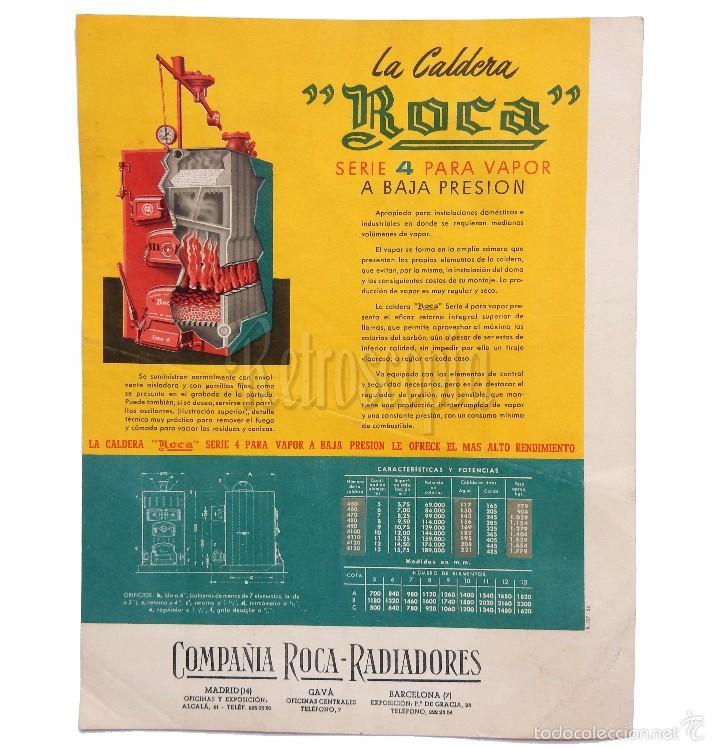 Publicidad original de calderas caldera roca comprar for Catalogo de radiadores