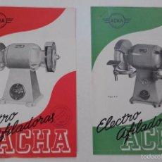 Catálogos publicitarios: ACHA, ELECTRO AFILADORAS, BILBAO. AÑOS 50.. Lote 57802083