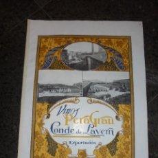 Catálogos publicitarios: CARTEL PROPAGANDA - VINOS PERA GRAU - CONDE DE LAVERN - EXPORTACION .DE VINOS A AMERICA . Lote 57848660