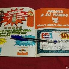 Catálogos publicitarios: FOLLETO VALE DESCUENTO PEPSI COLA Y MIRINDA. Lote 57937307