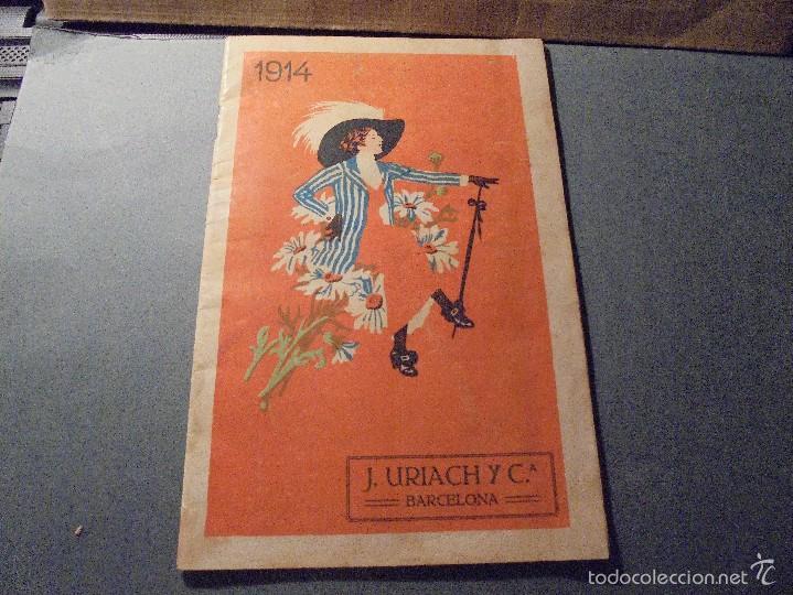 FARMACIA - J. URIACH Y Cª BARCELONA CATALOGO 1914 - 48 PAG. ILUSTRADO IMP. J. HORTA BARCELONA 21X14 (Coleccionismo - Catálogos Publicitarios)