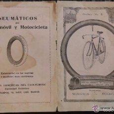 Catálogos publicitarios: CURIOSO CATÁLOGO DE NEUMÁTICOS Y ACCESORIOS PARA BICICLETAS. BICICLETA. CICLISMO. 1918. Lote 57986681