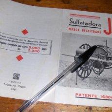 Catálogos publicitarios: TRIPTICO DE SULFATADORA JB CONSTRUIDA EN LOS TALLERES DE JOSE BALTANAS, LUCENA CORDOBA 1944.. Lote 58088147