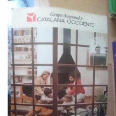 Catálogos publicitarios: CATALOGO PUBLICITARIO DE SEGUROS CATALANA OCCIDENTE. Lote 58376433