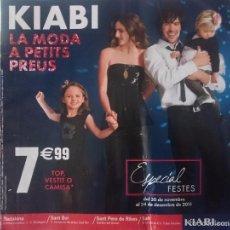 Catálogos publicitarios: CATALOGO KIABI - ESPECIAL FESTES - DEL 30 NOVEMBRE AL 24 DESEMBRE 2011 -EN CATALAN. Lote 58409300