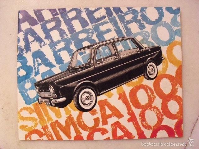 CATÁLOGO PUBLICITARIO DE COCHE SIMCA 1000. AÑO 1966. ( 12 PÁGINAS ) (Coleccionismo - Catálogos Publicitarios)