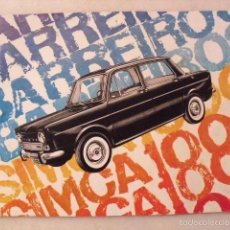 Catálogos publicitarios: CATÁLOGO PUBLICITARIO DE COCHE SIMCA 1000. AÑO 1966. ( 12 PÁGINAS ). Lote 58674843